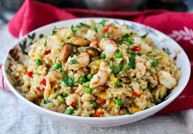 Greek Seafood Rice