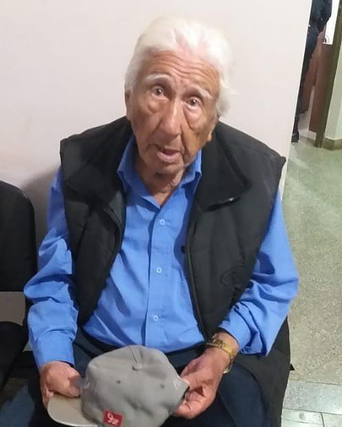 GARUPÁ  : Don Clementino de 88 años ya está con su familia