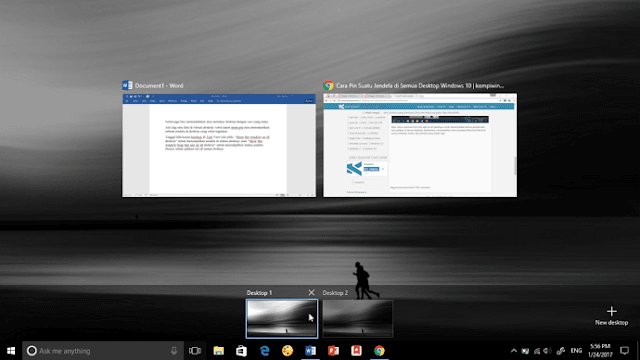 Mengenal Lebih Jauh Virtual Desktop di Windows 10
