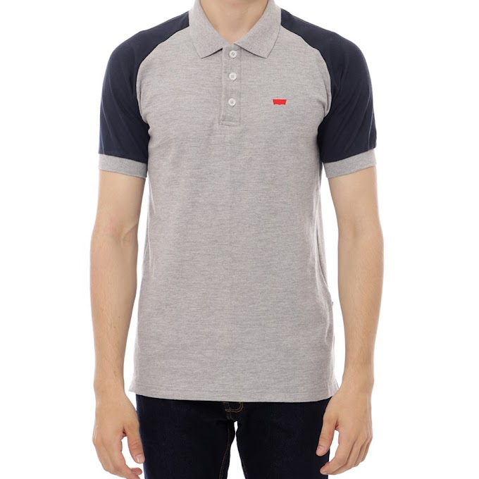 Polo Shirt Premium Raglan Misty Gray