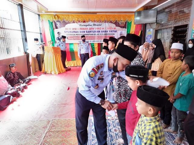 Zikir dan Santuni Anak Yatim Warnai Peringatan Maulid di Lapas Lhoksukon
