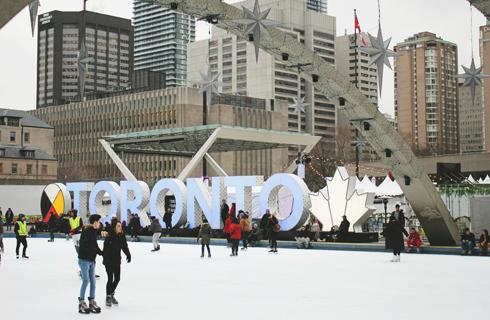 Nathan Phillips Square Toronto Skating