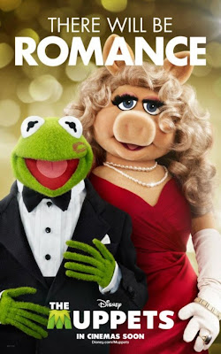"The Muppets Character Movie Poster Set - Kermit the Frog & Miss Piggy ""There Will Be Romance"""