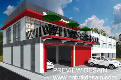 Design Showroom Mobil Bengkel dan Cafe Keren