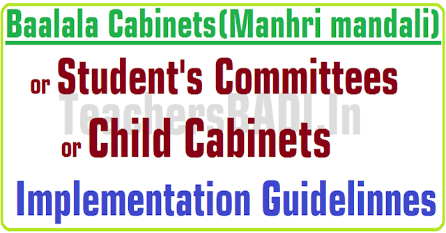 TS Schools,Baalala,Child Cabinets,Students Committee Implementation Guidelinnes