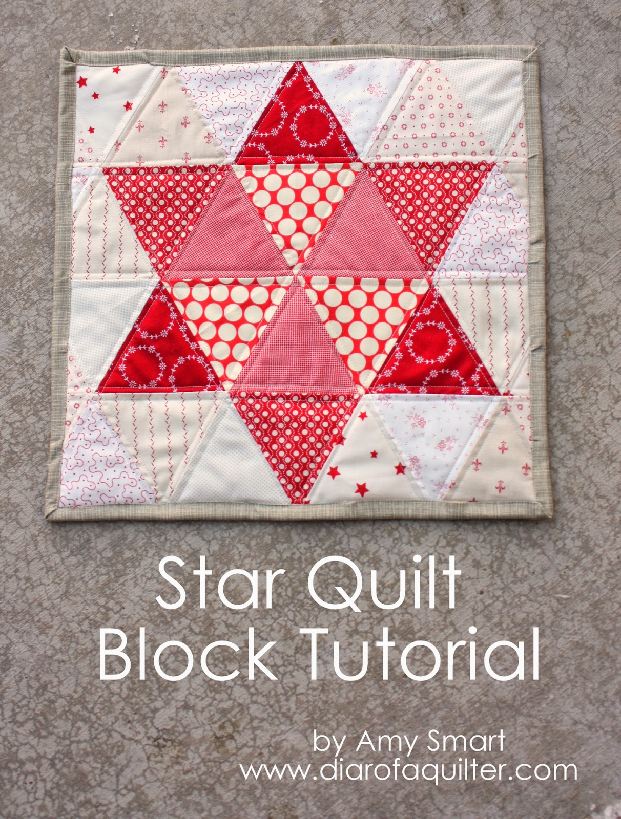 Christmas Star Quilt Tutorial featured by top US quilting blog, Diary of a Quilter