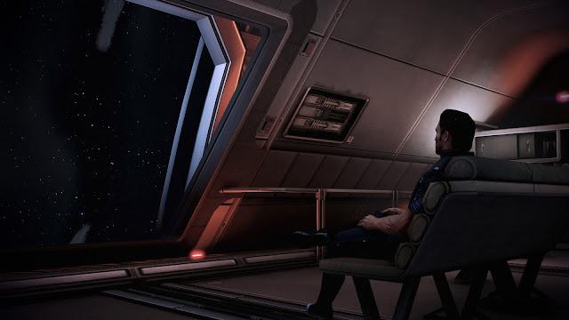 Screenshot of Kaidan on the Observation Deck in Mass Effect Legendary Edition