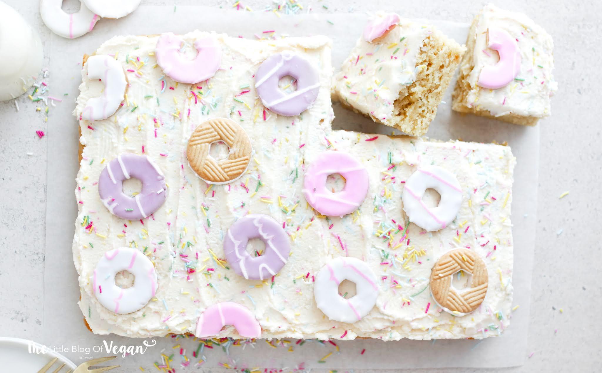 Vegan Party Ring Sheet Cake recipe