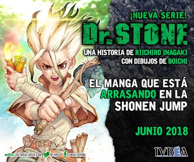 IVREA publicará Dr. STONE de Riichiro Inagaki y Boichi en España.