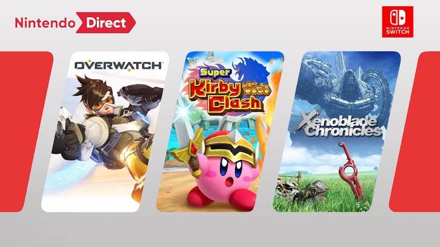 nintendo direct september 2019 switch games overwatch super kirby clash xenoblade chronicles