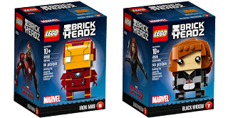 This review of LEGO® BrickHeadz MARVEL Super Heroes & Disney's Beauty and the Beast lists their new LEGO parts and printed pieces.