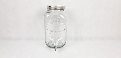 szklany słój na lemoniadę lub nalewkę wypożyczalnia dekoracji rzeszów ślubnażyczenie