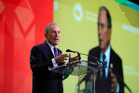 "Michael R. Bloomberg, the former New York City mayor, in January. In a statement, he said he saw ""virtually no hope"" of immediate government action on climate change. (Credit:  Manuel Balce Ceneta/Associated Press) Click to Enlarge."