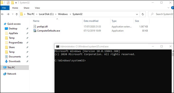 A new approach for Bypassing Windows 10 UAC with mock folders and DLL hijacking