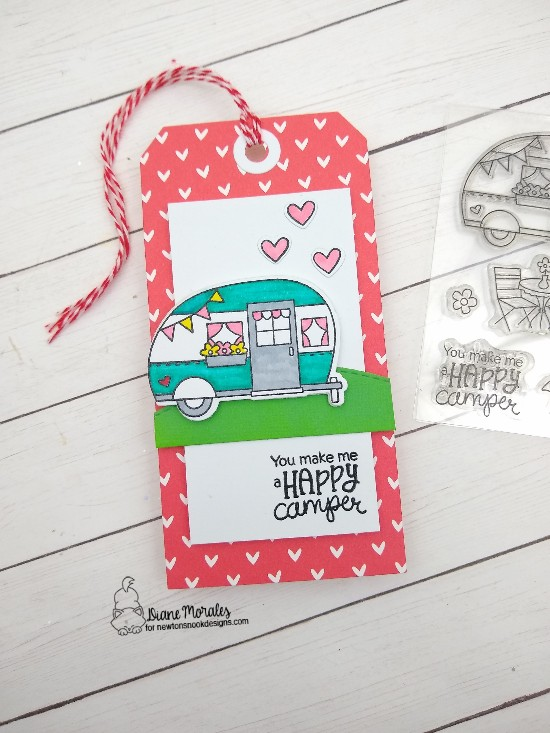 You make me a happy camper by Diane features Cozy Campers and Land Borders by Newton's Nook Designs; #newtonsnook