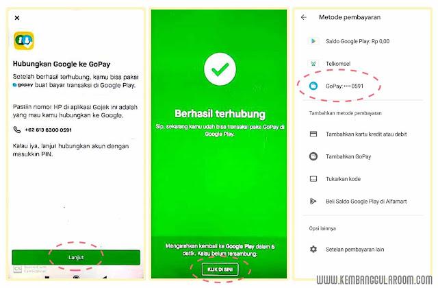 langganan aplikasi di google play dengan gopay