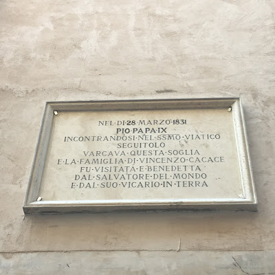 Targa Pio IX Giubbonari Cacace