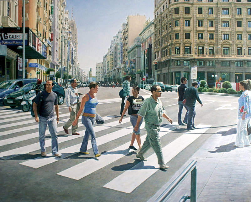 09-Christian-Pignol-Chaotic-Urban-Life-Captured-in-Paintings-www-designstack-co