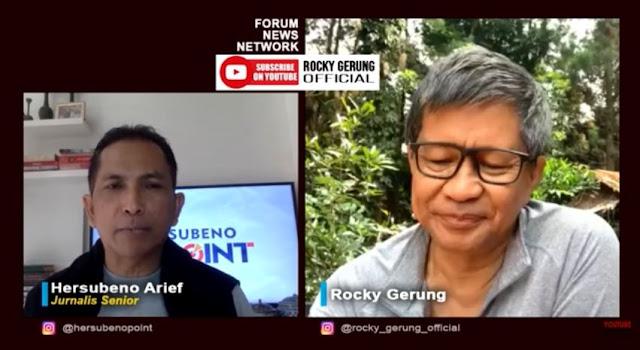 Rocky Gerung Prediksi Kekerasan Jadi Headline 2021, Sindir Jokowi?