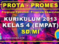 Prota dan Promes Kelas 4 SD/MI Kurikulum 2013 Tahun Pelajaran 2020 - 2021