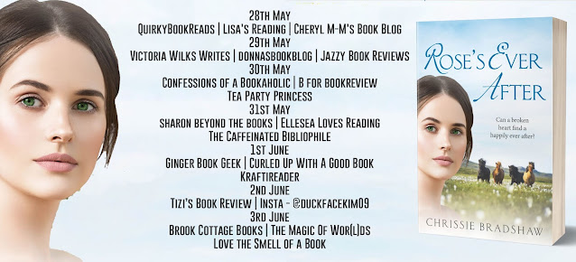 Rose's Ever After by Chrissie Bradshaw blog tour banner