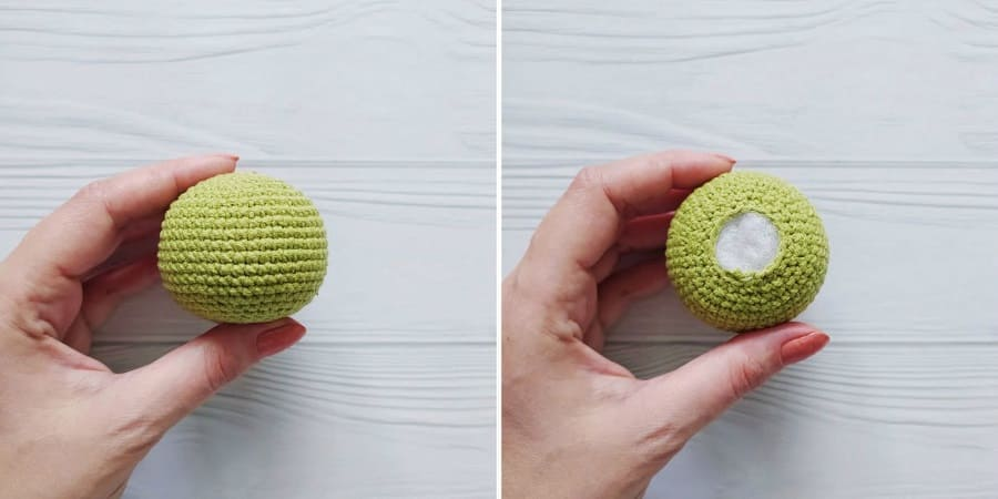 Crochet turtle tutorial head