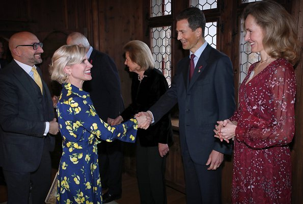 Prince Hans-Adam, Princess Marie, Hereditary Prince Alois and Hereditary Princess Sophie of Liechtenstein
