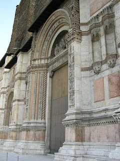 The Porta Magna of the church of San Petronio in Bologna