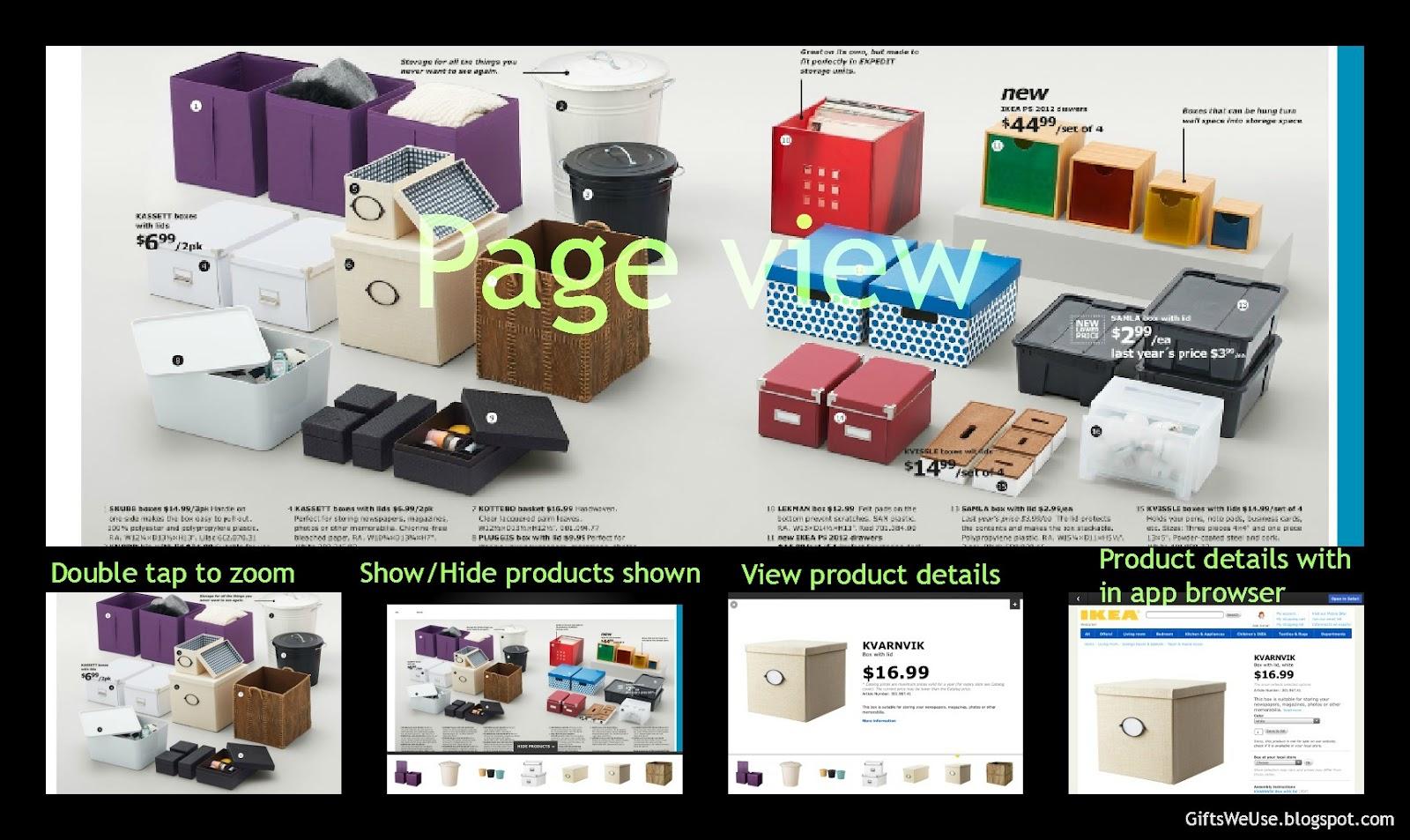 gifts we use ikea digital catalog app. Black Bedroom Furniture Sets. Home Design Ideas
