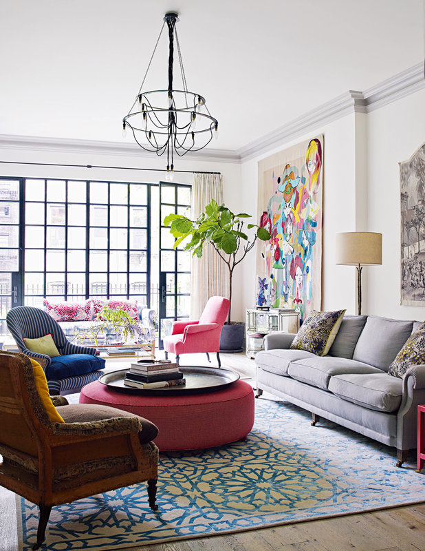 innovative modern eclectic living room design | Rooms of Inspiration: Bright and Eclectic Living Room
