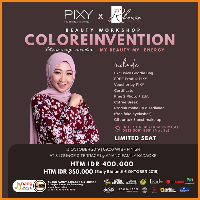 Workshop ColoReinvention Rhen's MUA X PIXY