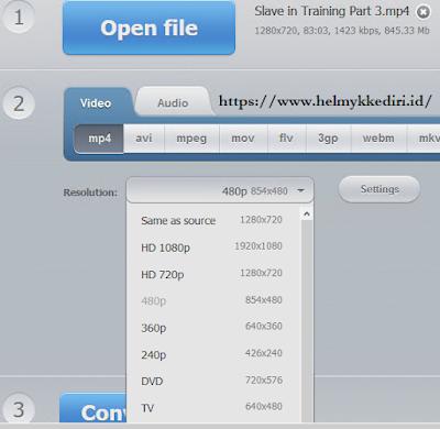 mengecilkan ukuran video secara onlinec