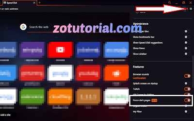 Force Dark Pages Opera Browser GX - Dark Mode for Opera - Make All Site Dark
