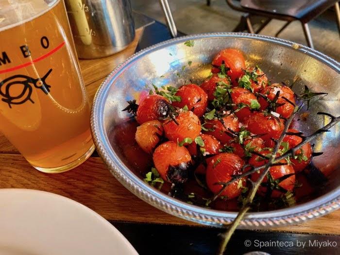 Limbo マドリードで食べたリンボのグリルされたプチトマト