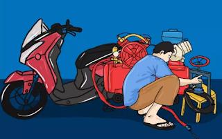7 Cara Melepas Ban Belakang Motor Matic Mudah Terbaru 2020