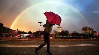 sonhar com arco íris colorido
