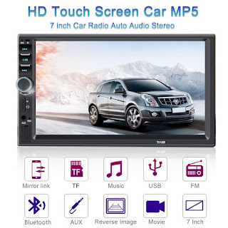 In Car Player Multimedia System 7018B Double Din 7inch Touchscreen Bluetooth Head Unit