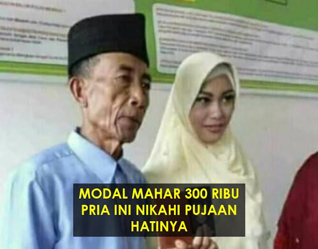 Beruntung, Kakek 56 Tahun Ini Bisa Nikahi Gadis Perawan 17 Tahun Pakai Mahar 300 Ribu