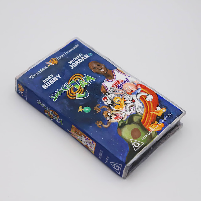 Space Jam VHS Acrylic on ceramic 21.5cm x 12.5cm x 3.5cm  2021