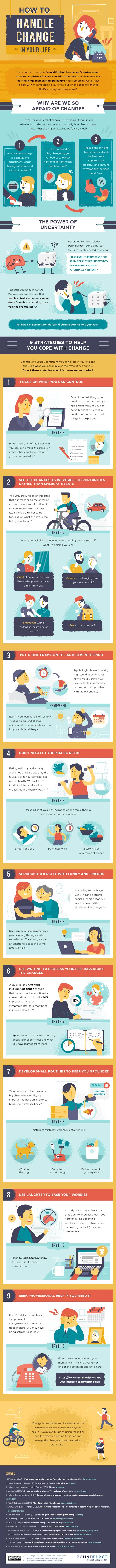 How To Handle Change In Your Life #infographic