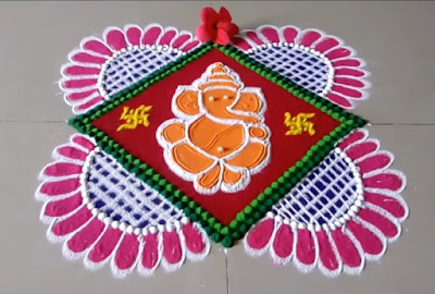 ganesha-easy-rangoli-design-for-diwali-2018