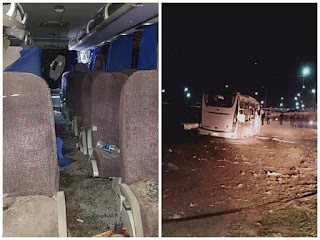 صور: استهداف أتوبيس سياحى في الجيزة بمنطقة المريوطية بالهرم اليوم الجمعة ووفاة سائحين وأصاب 12 شخصا آخرين
