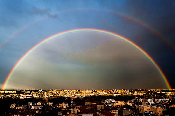 Gorgeous rainbows in Rome