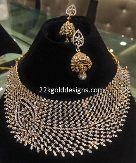 Diamond Look CZS Choker Necklace