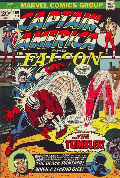 Captain America and the Falcon #169, the Tumbler is back