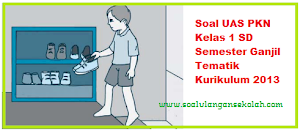 Soal UAS PKN Kelas 1 SD Tematik Kurikulum 2013
