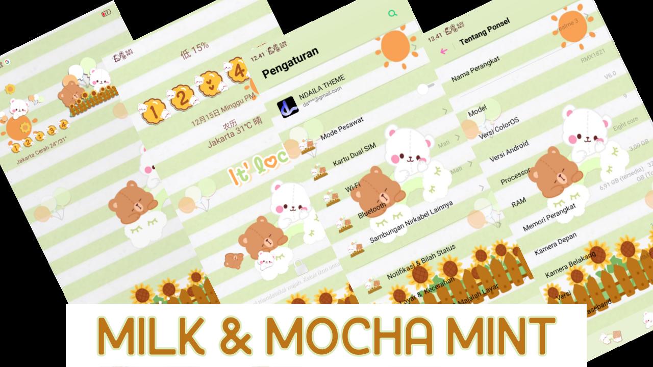 Tema OPPO Tembus Akar Milk & Mocha Mint