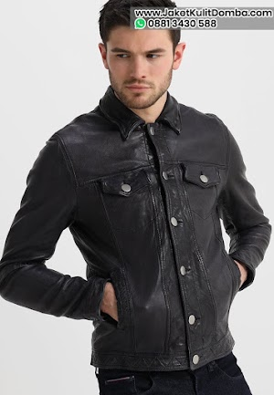 Harga Jaket Kulit Domba Super Pria Asli Garut Warna Hitam Terbaru 2020 Brida Leather