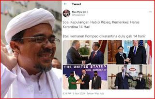 Kemenkes: HRS Wajib Karantina 14 Hari, Tapi Saat Pompeo Datang ke Indonesia Kok Tidak Dikarantina?
