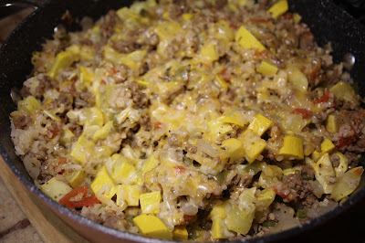 Ground Beef and Squash Skillet